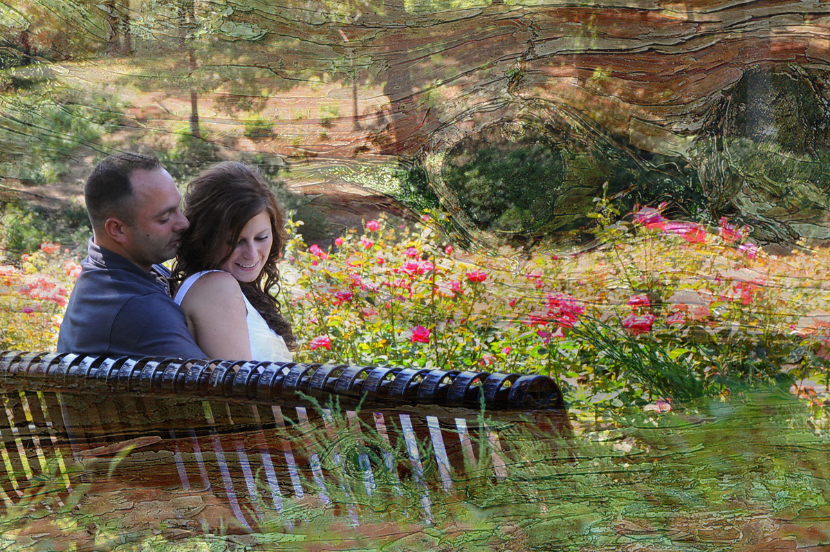 Engagement Session at the Rose Garden, Schenectady, NY