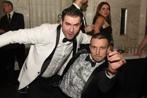 Alex and Grey having fun at a Non profit formal gala in Albany NY